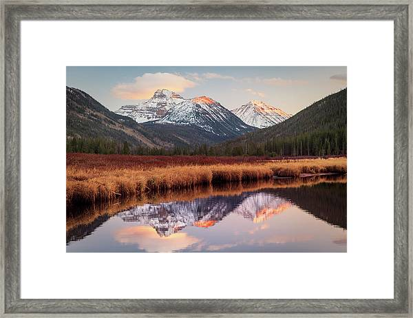 Spread Eagle Peak Sunset Framed Print