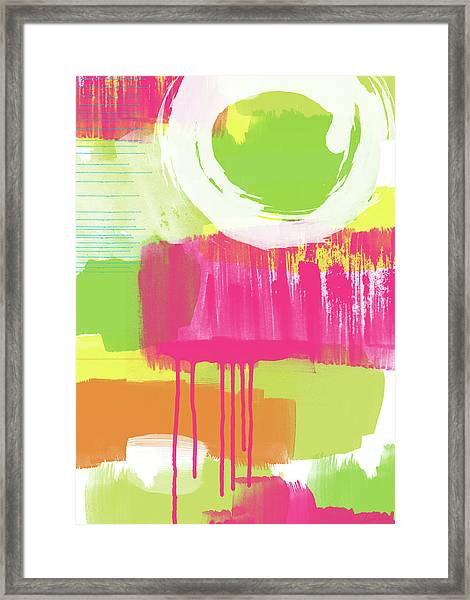 Spring Abstract- Art By Linda Woods Framed Print