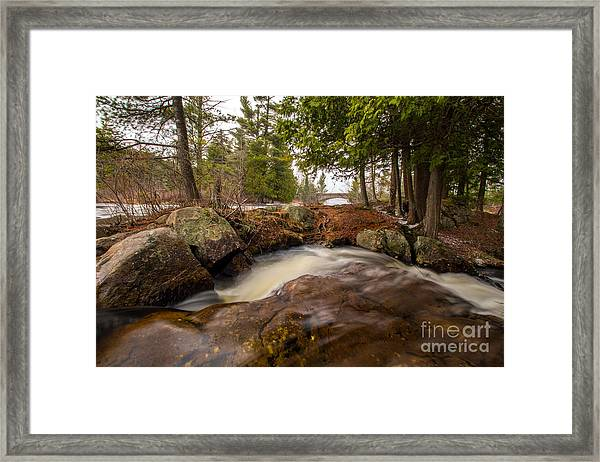 Spring At Bog River Falls Framed Print