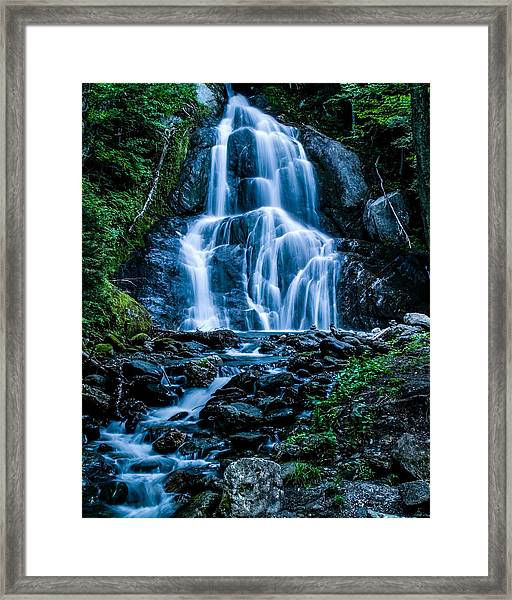 Spring At Moss Glen Falls Framed Print