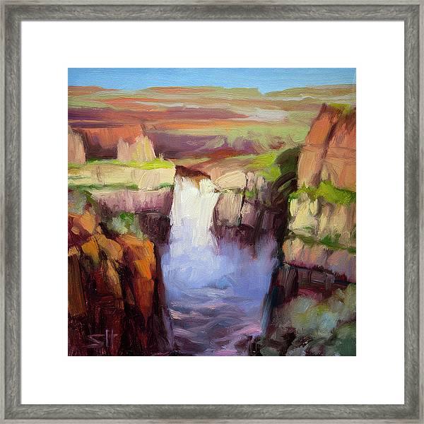 Spring At Palouse Falls Framed Print