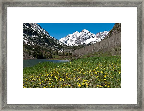Spring At The Maroon Bells Framed Print
