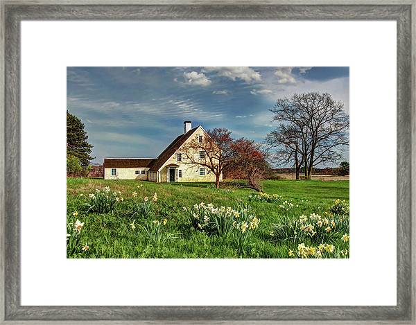 Spring At The Paine House Framed Print