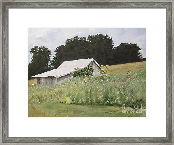 Enveloped By Wildflowers Framed Print by Carla Dabney