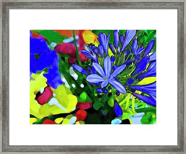 Framed Print featuring the digital art Spring Bouquet by Gina Harrison