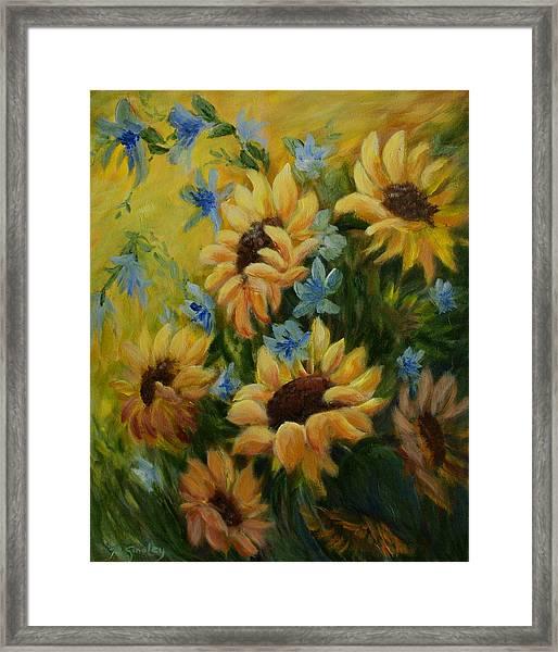 Sunflowers Galore Framed Print