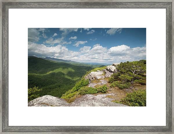 Spring Cliffs Framed Print by Jim Neal