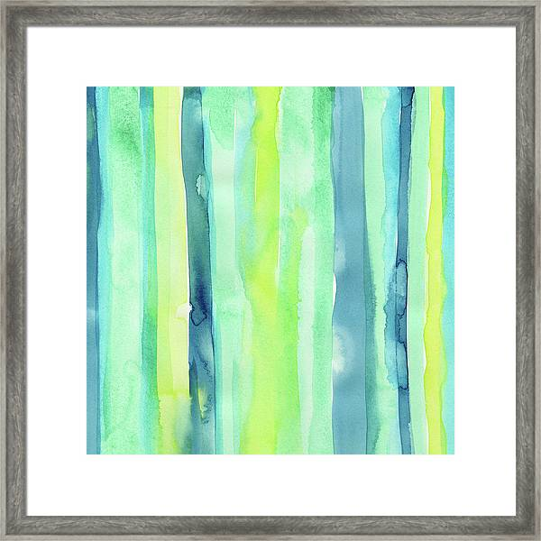 Spring Colors Stripes Pattern Vertical Framed Print