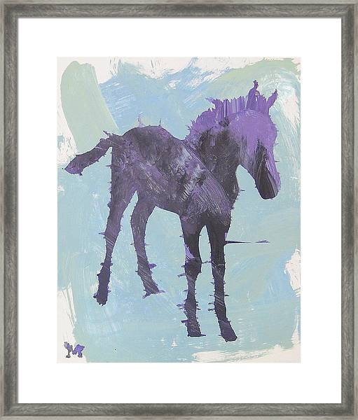 Framed Print featuring the painting Spring Colt by Candace Shrope
