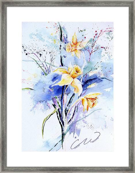 Spring Daffidolds Framed Print