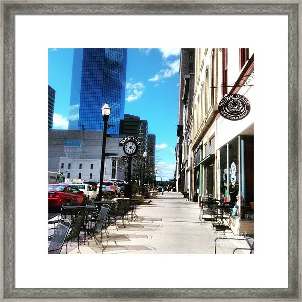 Framed Print featuring the photograph Spring Day In Downtown Lexington, Ky by Rachel Maynard