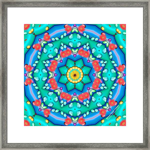 Framed Print featuring the digital art Spring Dreams 1022k8 by Brian Gryphon