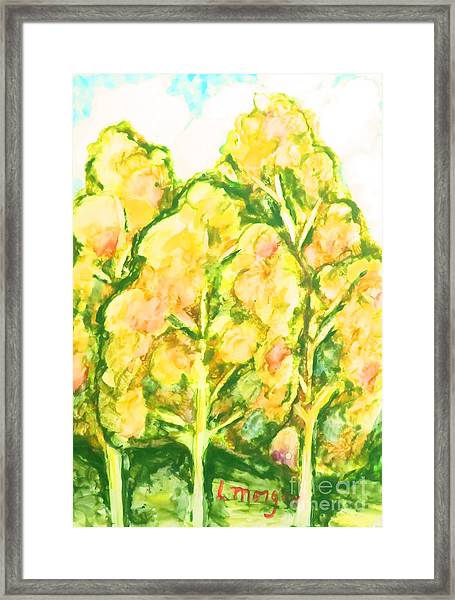 Spring Fantasy Foliage Framed Print