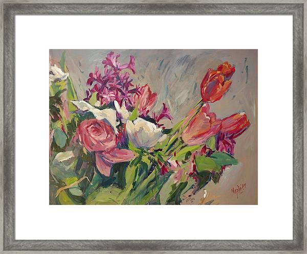 Spring Flowers Bouquet Framed Print