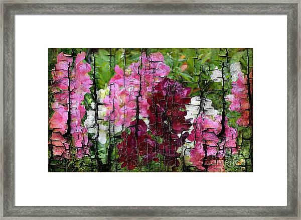Framed Print featuring the painting Spring Garden H131716 by Mas Art Studio