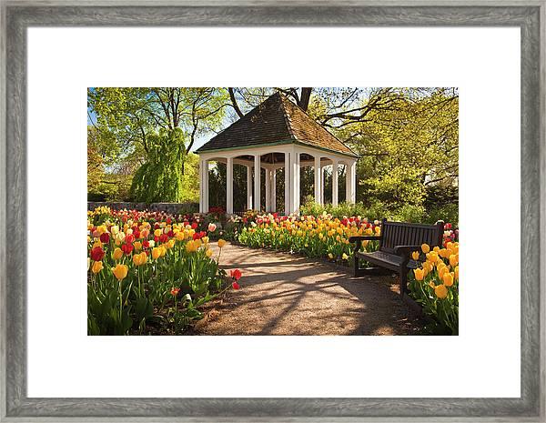 Spring Gazebo Framed Print