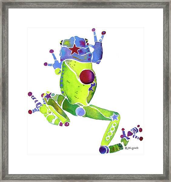 Spring Green Frog Framed Print