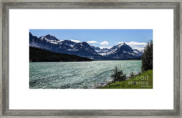 Many Glacier Framed Print