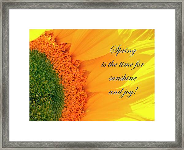 Spring Is The Time Framed Print