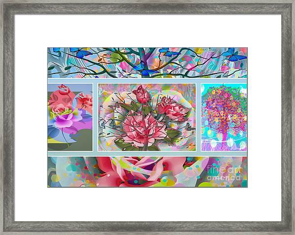 Framed Print featuring the digital art Spring Medley by Eleni Mac Synodinos