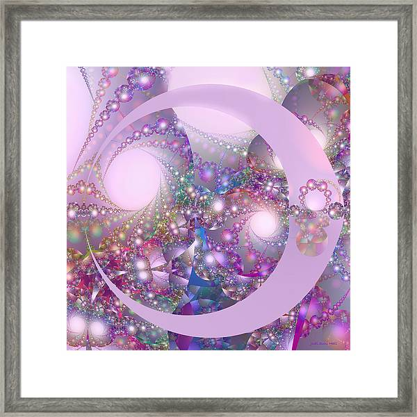 Spring Moon Bubble Fractal Framed Print