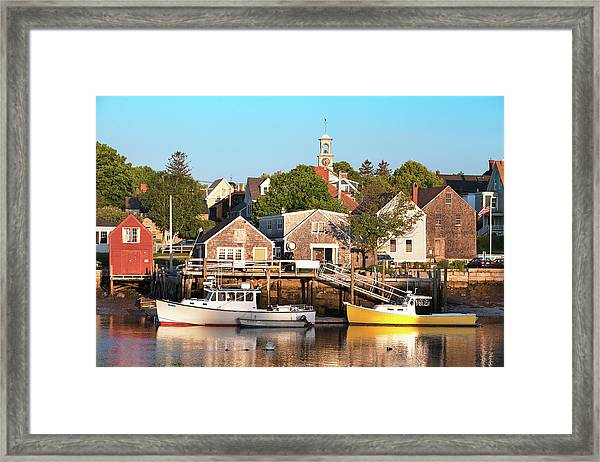 Spring Morning In Portsmouth South End Framed Print by Eric Gendron