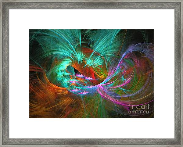 Spring Riot - Abstract Art Framed Print
