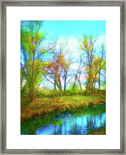 Spring River Rambling Framed Print