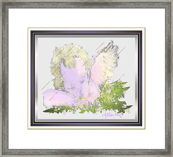 Framed Print featuring the painting Spring Shower Slumber by Larry Talley