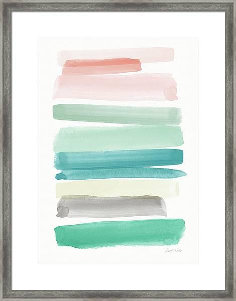 Spring Sky- Art By Linda Woods Framed Print