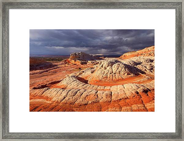 Spring Squall At White Pocket Framed Print