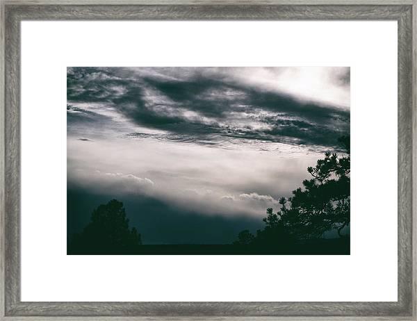 Spring Storm Cloudscape Framed Print