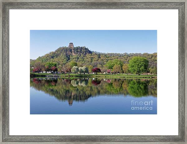 Spring Sugarloaf With Reflections Framed Print by Kari Yearous