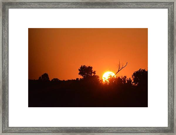 Spring Sunset Framed Print