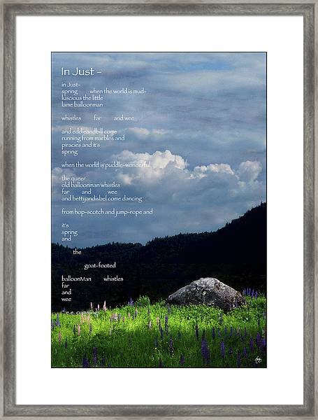 Spring Symphony With Cummings Framed Print