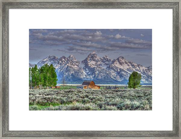 Framed Print featuring the photograph Spring Teton Barn  by David Armstrong