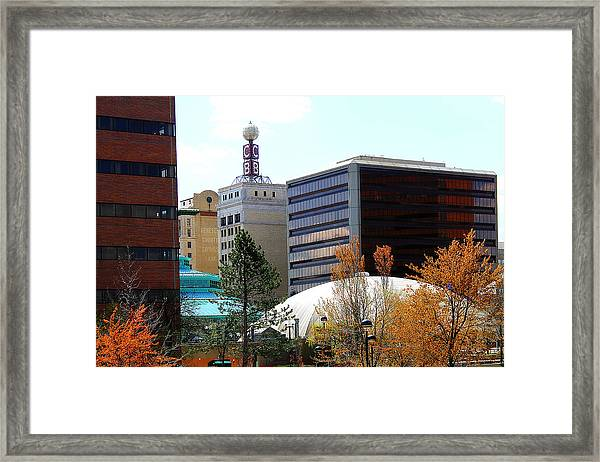 Spring Tine In Downtown Flint Michigan Framed Print