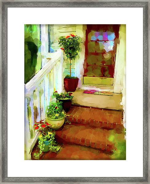 Framed Print featuring the digital art Spring Welcome by Gina Harrison