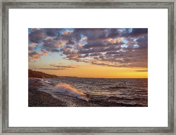 Springtime On Agate Beach Framed Print