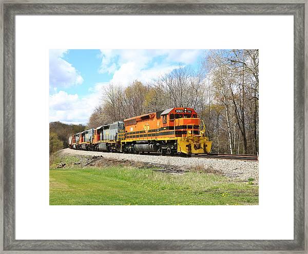 Springtime Train Framed Print