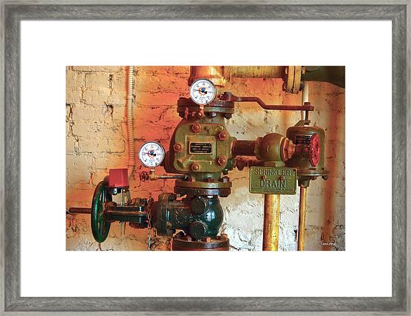 A Spinkle In Time Sprinkler Guages Framed Print