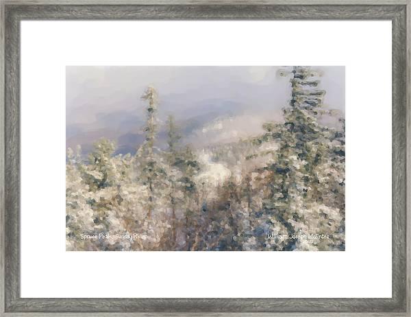Spruce Peak Summit At Sunday River Framed Print