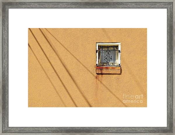 Square Window Framed Print