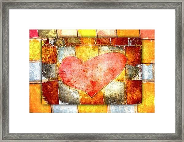 Squared Heart Framed Print