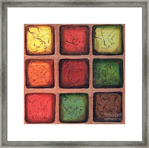 Squared In Bronze Framed Print