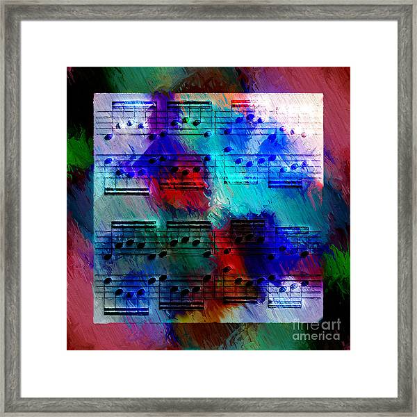 Squarely In Frame - Circular Figures Framed Print
