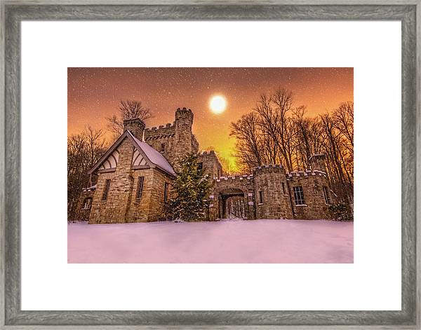 Squires Castle In The Winter Framed Print