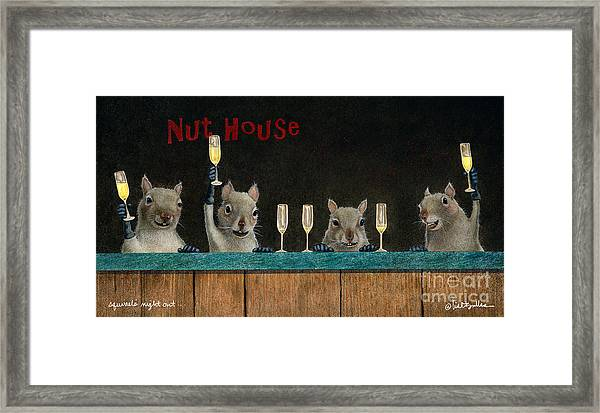 Squirrel's Night Out... Framed Print