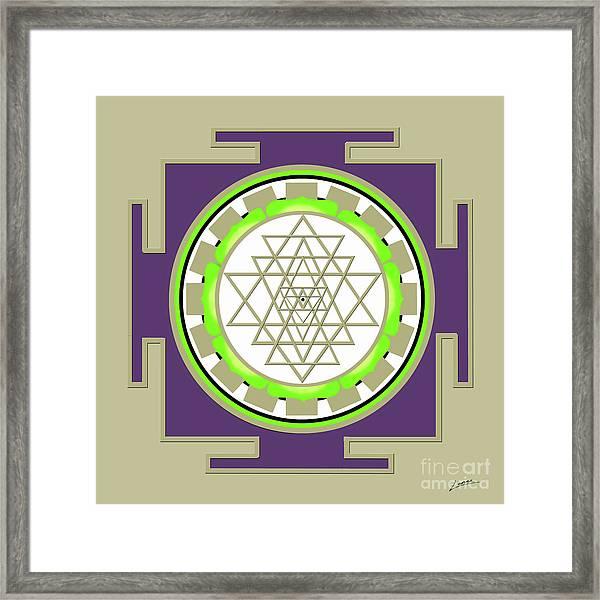 Sri Yantra Of Prosperity Framed Print