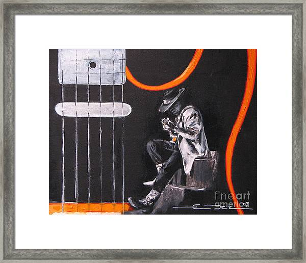 Srv - Stevie Ray Vaughn Framed Print